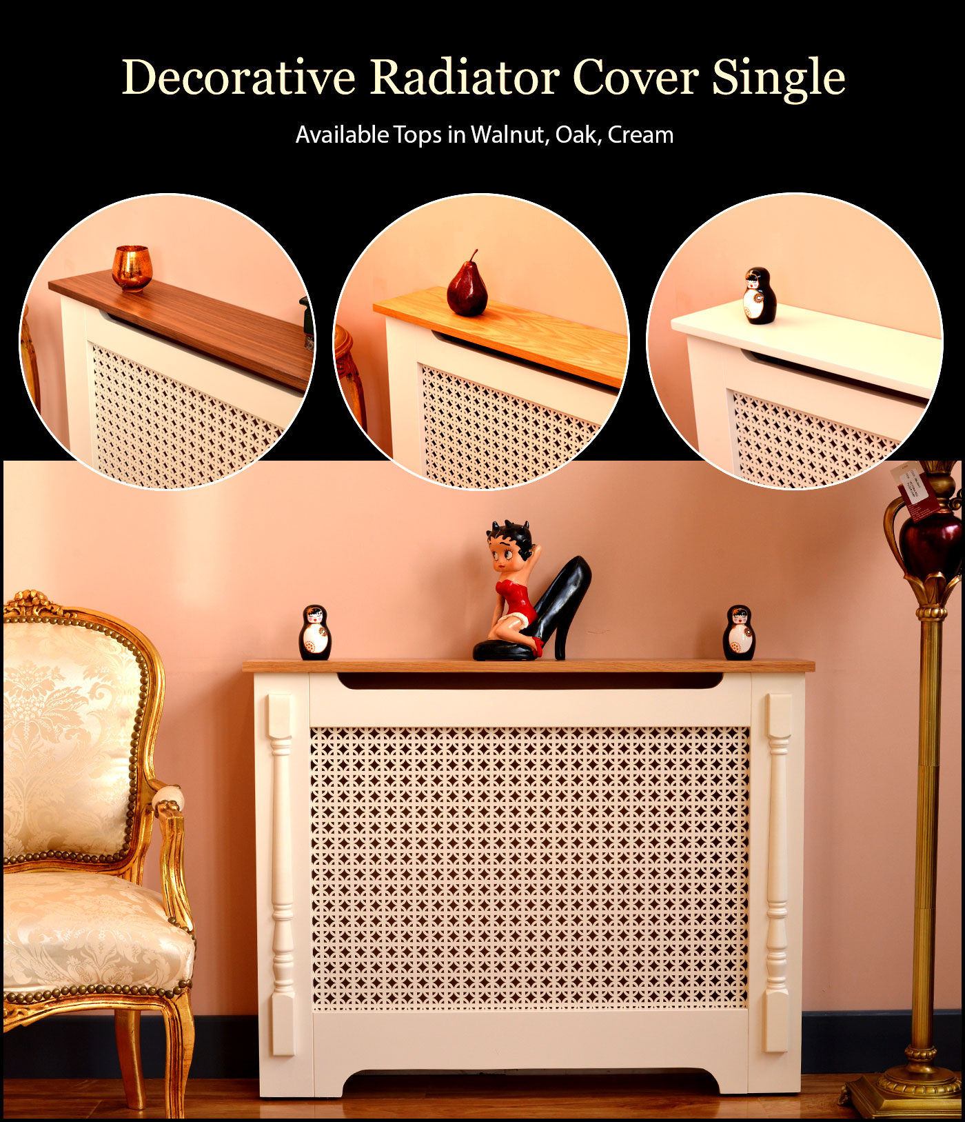 single radiator cover